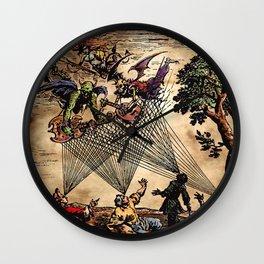 Medieval Minstrel Spirits Wall Clock