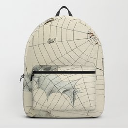 Vintage Garden Spider with Web Illustration (1891) Backpack