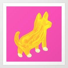 Shibainu dog Art Print
