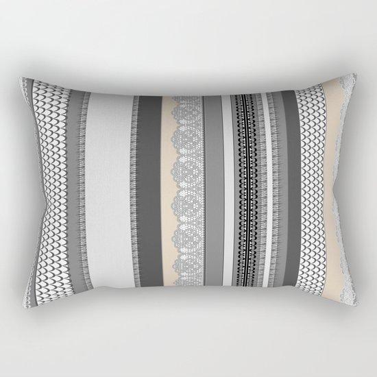 Beach House Stormy Grey Rectangular Pillow