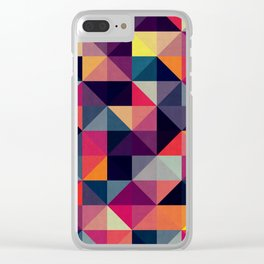 Colorful square composition Clear iPhone Case