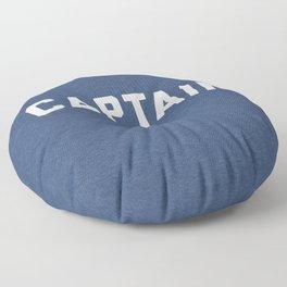 Captain Nautical Quote Floor Pillow