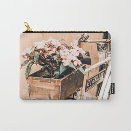 Flower Basket Vintage Bicycle Carry-All Pouch