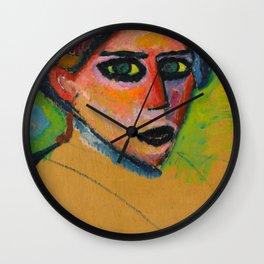Alexej von Jawlensky - Woman's face, 1911 Wall Clock