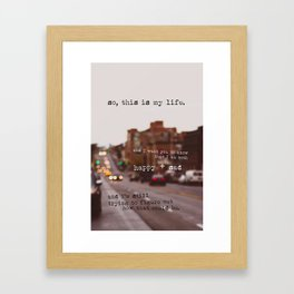 perks of being a wallflower - happy + sad Framed Art Print