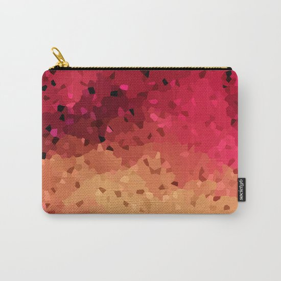 Red brown abstract pattern Crystals . Carry-All Pouch