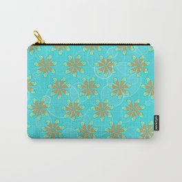 Mint Chip Flowers Carry-All Pouch