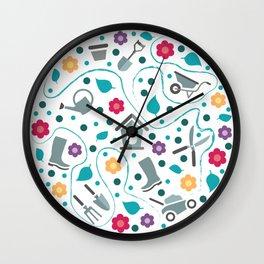 Gardening tools Wall Clock