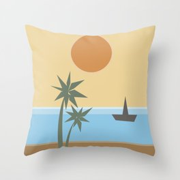 California Vibes Throw Pillow