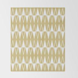 Mid Century Modern Diamond Pattern Gold 234 Throw Blanket