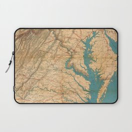 Vintage Map of Virginia and The Chesapeake Bay (1862) Laptop Sleeve