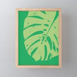 Leaf modern minimal print Framed Mini Art Print