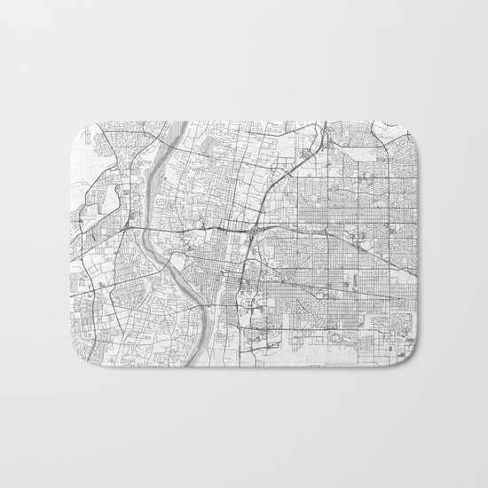 Albuquerque Map Line Bath Mat