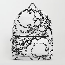 Victorian Inspired Black and White Backpack