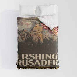 Illustrated Movie Poster - Pershing's Crusaders Comforters