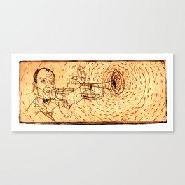 Louis playing Trumped Canvas Print