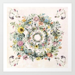 Circle of life- floral Art Print