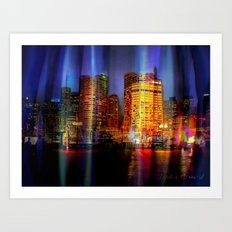 Behind the curtain 3 (Sydney) Art Print
