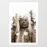 The native woodland Art Print