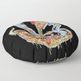Death To False Pizza! Floor Pillow