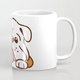 Adorable English Bulldog front head Coffee Mug