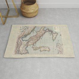 Bella Italia Vintage Map Of Italy Rug