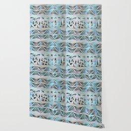 Labradorite Yoga Asanas  on mother of pearl Wallpaper