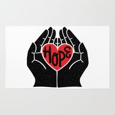Hold hope in your heart Rug