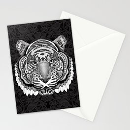 Tiger face aztec pattern Stationery Cards