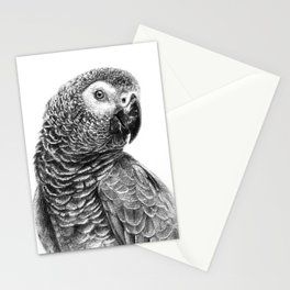 Gray Parot G083 Stationery Cards