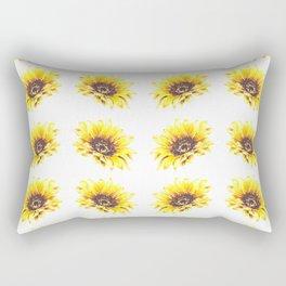 Watercolor Sunflower Petal Pattern Rectangular Pillow