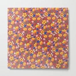 Orange Flowers 2 Metal Print