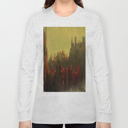 Abstract landscape colorful aerial view illustration Long Sleeve T-shirt