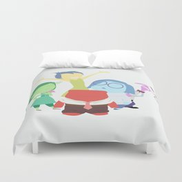 Inside Out, Joy,  Sadness, Fear, Anger, Disgust Duvet Cover