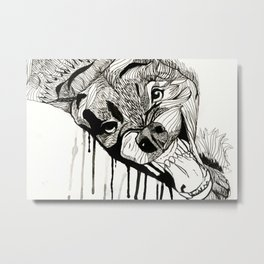 Fight! Metal Print