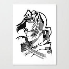 Jin Graffiti Head Canvas Print