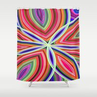 starfish Shower Curtains featuring Starfish by Designs By Misty Blue (Misty Lemons)