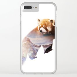 Wild animals : Red Panda Clear iPhone Case
