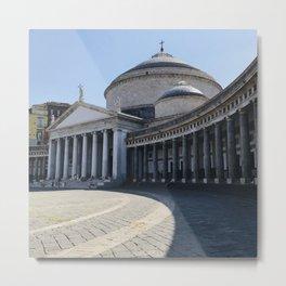 Napoli, Piazza del Plebiscito, Italy landmark, Naples photo, italian art, neoclassical architecture Metal Print