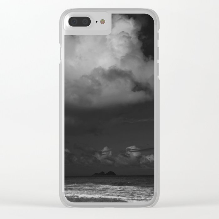 Dark Island Day Clear iPhone Case