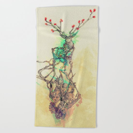 Woodland Spirit Beach Towel