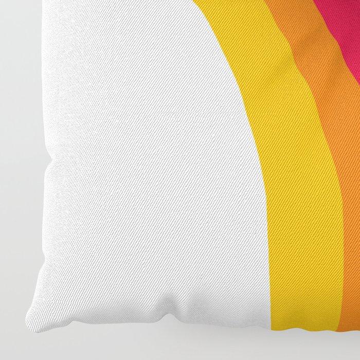 Groovy - rainbow 70s 1970s style retro throwback minimal happy hippie art decor Floor Pillow