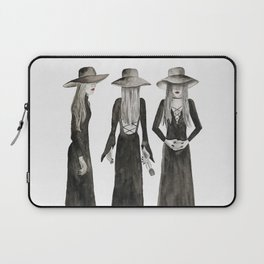 Southern Gothic Witch Coven Watercolor Laptop Sleeve