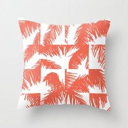 Palm Leaf Pattern Orange Throw Pillow