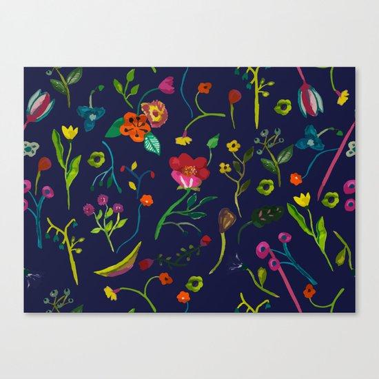 Floral love I pattern Canvas Print