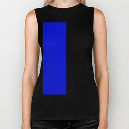 Psychedelic black and blue stripes V. Biker Tank