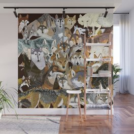 Wolves o´clock ( Time to Wolf ) Wall Mural