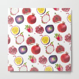 Mixed fruit pattern Metal Print