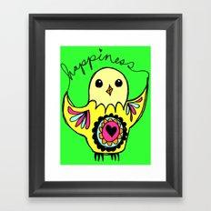Happiness Bird Framed Art Print