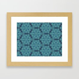Teal Mandalas Framed Art Print